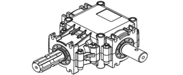 Gear box for PTO drive shafes